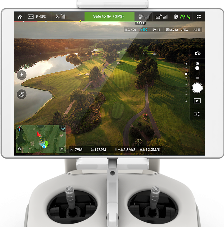 Приложение DJI GO Phantom 3 Advanced