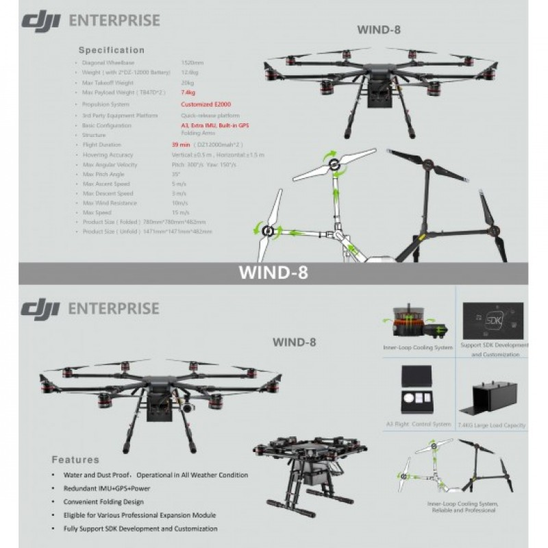 Квадрокоптер DJI Wind 8