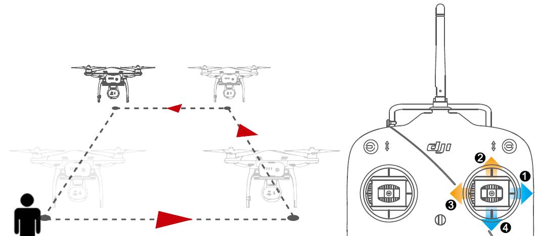 Задание по обучению полета на квадрокоптере номер 1