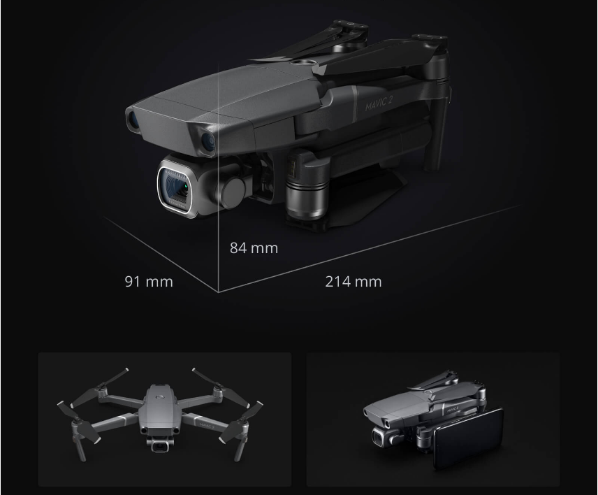 Размер Квадрокоптер DJI Mavic 2 Zoom